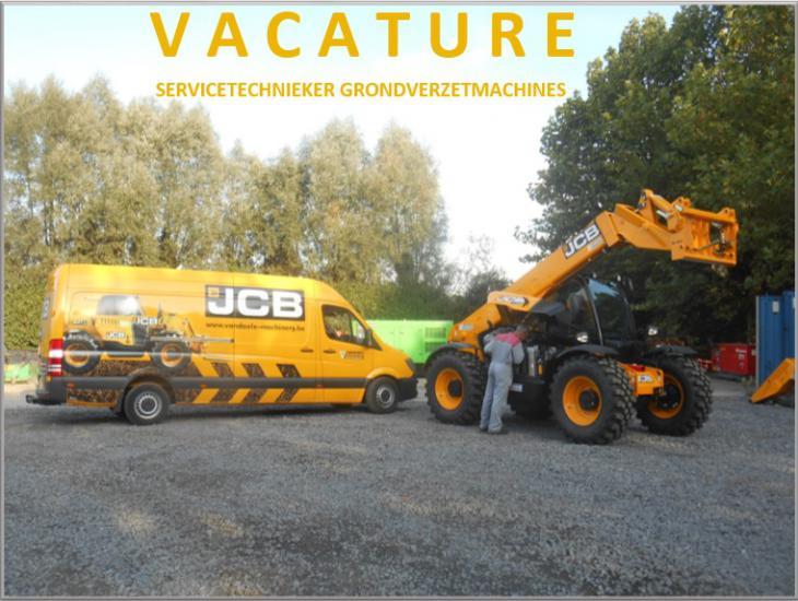 Vacature servicetechnieker grondverzetmachines Vandaele